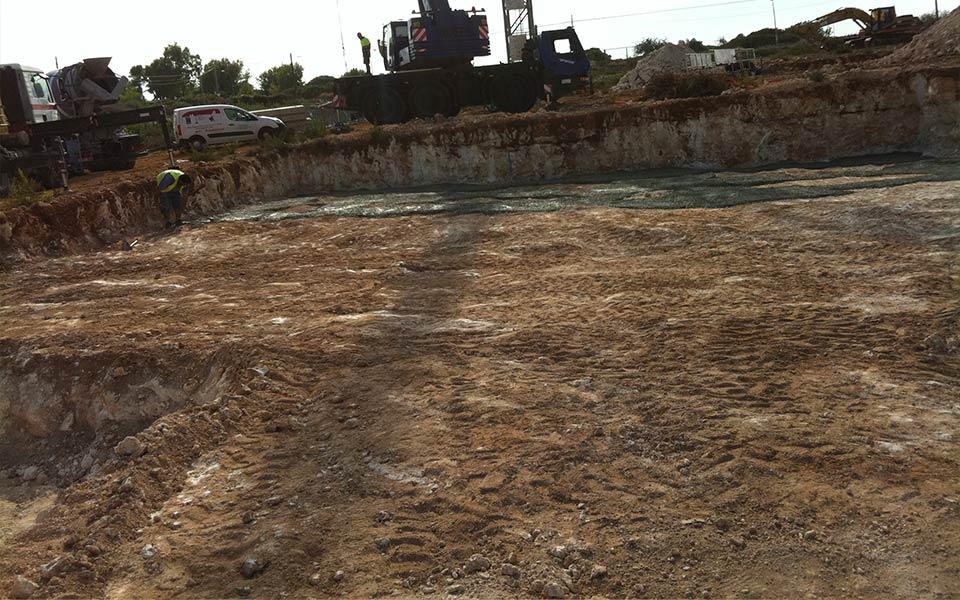 Estructuras SASTRE construcción en Cala Magrana, Mallorca para Taylor Wimpey